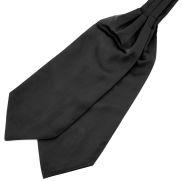 Semplice cravatta ascot nera
