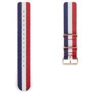 Red, White, Blue & Rosegold Nato Watch Strap