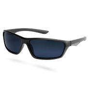 Matte Black Smoke Polarized Sunglasses