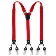 Bretelles rouges à pinces au profil étroit