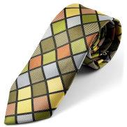 Corbata de seda a cuadros