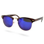 Lunettes de soleil vintage marron/bleu