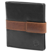 Montreal Vertical Black & Tan RFID Leather Wallet
