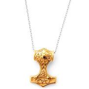Collier Marteau de Thor XXL doré
