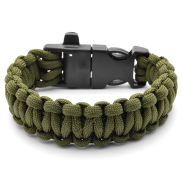 Green Firestarter Paracord Steel Bracelet