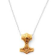 Collana con martello di Thor dorato