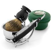Set de rasage professionnel avec lames jetables - noir