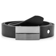 Black Solid Buckle Belt
