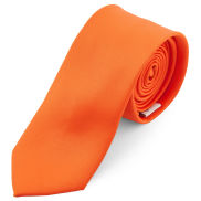 Basic Krawatte In Schreiend Orange 6 cm