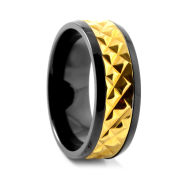 Bold Gold Titanium Ring