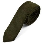Corbata natural hecha a mano en verde oliva