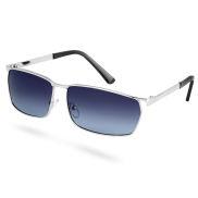 Поляризирани сребристи слънчеви очила с опушени стъкла