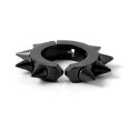 Mat zwarte Oorbel Met Spikes