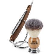Семпъл дървен комплект за бръснене