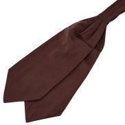 Dunkelbrauner Basic Krawattenschal