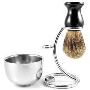 Conjunto de Barbear Básico em Pêlo de Texugo Pure