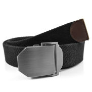 Black Canvas Belt