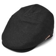 Schwarze Sixpence Ballonmütze in Wolle