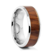 Brown Rosewood Steel Ring