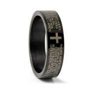 Černý prsten Otčenáš z oceli