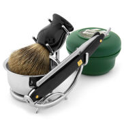 Set de navaja de afeitar madera de caoba