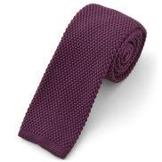 Paarse gebreide stropdas