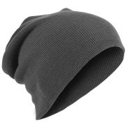 Beanie gris charbon - extra long