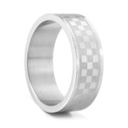 Silver Chess Steel Ring