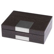 Grey Wooden Watch & Jewellery Box
