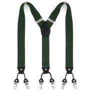 Wide Dark Green Clip Braces