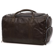 Montreal Large Brown Leather Duffel Bag