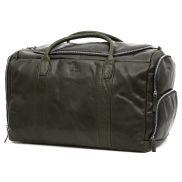 Bolsa de viaje grande Montreal de cuero verde oliva