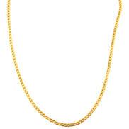 3 mm Oceľová retiazka v zlatej farbe