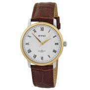 Classico orologio marrone e oro
