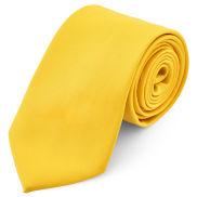 Яркожълта едноцветна вратовръзка 8 см