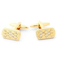 Butoni aurii cu zirconiu