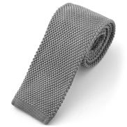 Grey Knitted Tie
