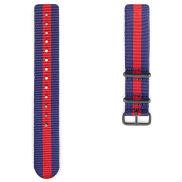 Cinturino Nato rosso e blu, con fibbia nera