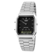 Reloj con cuadrado negro elegante