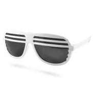 Witte Shutter Shades Zonnebril V2
