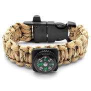 Sand Paracord Compass and Fire Starter Bracelet