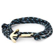 Zwarte / Goudkleurige Anker Armband