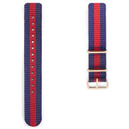 Navy, Red & Rosegold Nato Watch Strap