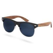 Browline Ebenholz Sonnenbrille Mit Getönten Polarisierten Sonnenbrillengläsern