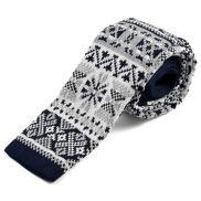 Skandináv mintás kötött nyakkendő