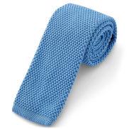 Kornblumenblaue Strickkrawatte