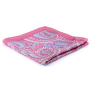 Baroque Pink Silk Pocket Square