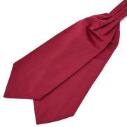 Burgunderroter Basic Krawattenschal
