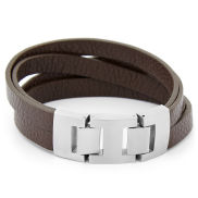 Brown Urban Revival Leather Bracelet