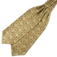 Zlatá polyesterová kravatová šála Askot Paisley